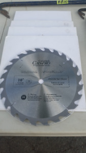 NEW CAN PRO 10 INCH TABLE SAW & MITER SAW BLADES