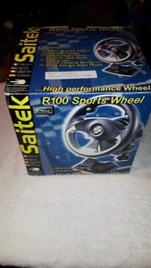 New Saitek R100 Racing Wheel