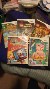 Lot of 5 wii games - rated E
