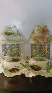 Candle Shades & holders== Winter Motif - From Yankie Candle