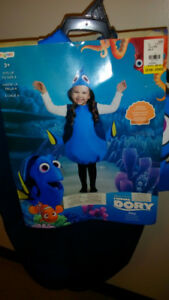 """""""Finding Dory """" Halloween costume .Size 3 years +  fits up to 6"""