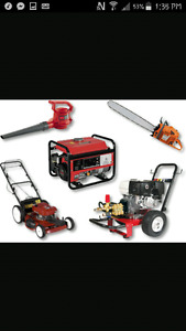 Small engine repair (lawn mowers trimmers atvs etc)