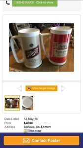 Schlitz and Budwiser vintage mugs