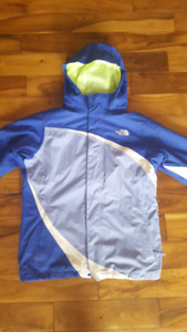 The North Face 3 in 1 winter coat, size L (14/16) girls, in exce