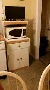 Microwave Oven with cupboard