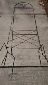 Large metal garden trellis