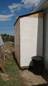 Solid Wood 4x8 shed for sale (Disassembled)