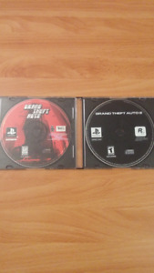 PlayStation Games. Grand Theft Auto 1+2. PS1 System.