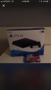 PS4 1TB WITH TWO GAMES