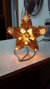 Gold Star Light up Christmas Tree Topper