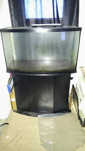 46 Gallon Bow Style Fish Tank With Stand