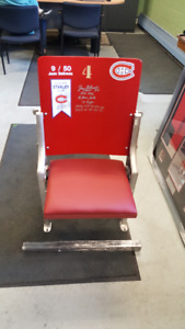 Montreal Canadiens refurbished Forum seats  Beliveau ++++