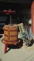 Wine press & Stainless Grape Masher With Electric Motor