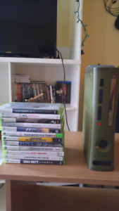Xbox 360 Halo Edition with 12 games and controller