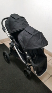 LIKE NEW BABY JOGGER CITY SELECT DOUBLE*UNIVERSAL ADAPTER*+