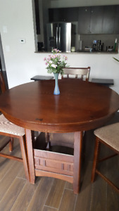 $250  Used Doster 5 Piece Counter Height Dining Set