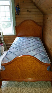 Antique Early 1900's Honey maple twin bed