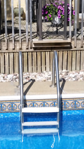 In ground Swimming Pool Ladder Steps Stairs échelle Piscine