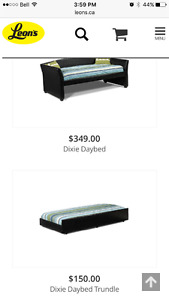 Barely used trundle bed