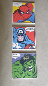 *SOLD* Superhero Canvases