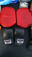 Sale of Used Boxing Training Gloves and Pads