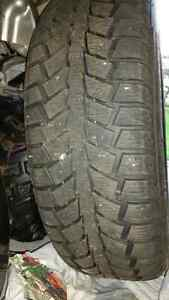 4 winter tires with steel rims for sale