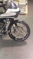 "Harley Davidson 23"" rim, trees,rotors,fender everything you need"