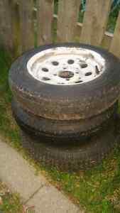 5 Used Trailer Tires and Rims