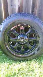 Heavy duty rims and winter tires