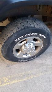 Ram 8 bolt rims/tires