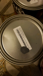 9 GALLONS OF DARK GREY INTERIOR PAINT