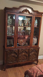 Antique solid cherry wood cabinet