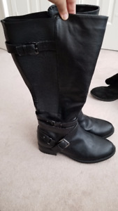 Torrid Black Faux Leather Knee-High Boots $15