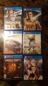 6 jeux PS4 à vendre pour 60$ WOW !!!!