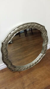 "Decorative framed Mirror 24"" diameter"