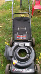Lawnmower body with bagger for sale
