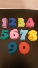Free Shipping Silicone Number Baking Moulds 0-9 Set