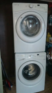 2016 Whirlpool Stackable Front Load Washer & Dryer
