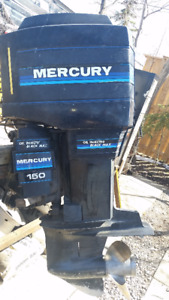 1986 Mercury 150 HP Black Max Oil Injected Outboard motor