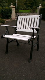 Cast iron summerseat with table
