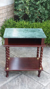Marble table display hutch - Reduce to sell $50