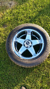 Set of 4 20 custom wheels 6 bolt with tires  BEST OFFER TAKES
