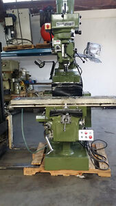 Vertical milling machine NEW 12 x 54 table W /DRO ,5hp 220 V