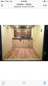 Dog grooming trailer