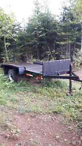 Utility trailer  5 x 13 professionally built may trade for snowb