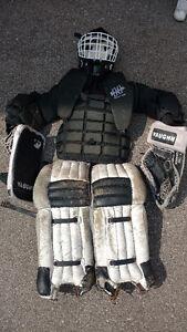 Used Hockey Jr Goalie Equipment (Mask, Chest Pad, Gloves, Pads)