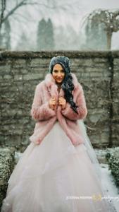 Light Blush Wedding Dress