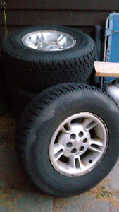 Toyo Open Country Winter Tires on Rims