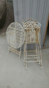 Reduced! Steel patio set