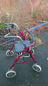 Collapsible Walker With Seat